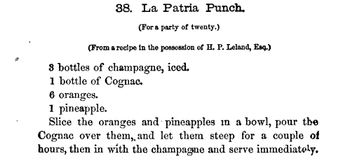 La Patria Punch Receipt
