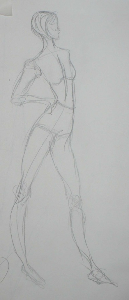 Undressed Fashion Sketch