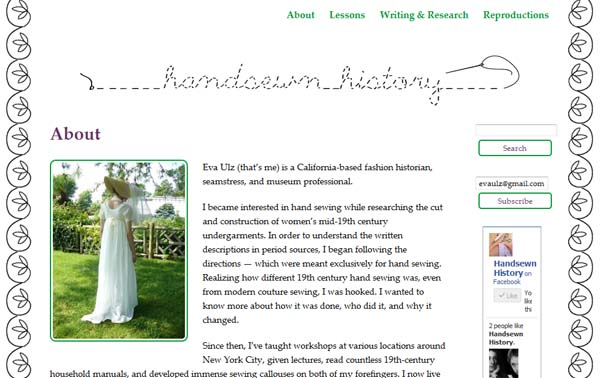 Handsewn History Screenshot