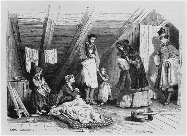Visiting the Poor, 1844 (from La Magasin Pittoresque)