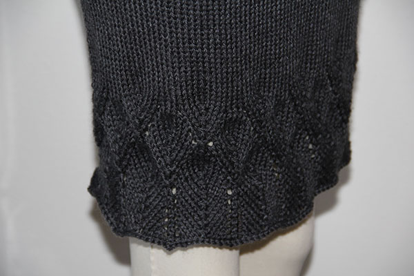 Lace Hem of Knitted Skirt